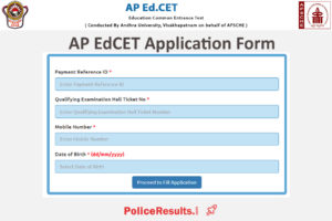 AP EdCET 2020 : Online Application Form
