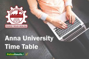 Anna University Time Table 2020 UG/PG Annual Semester Date Sheet