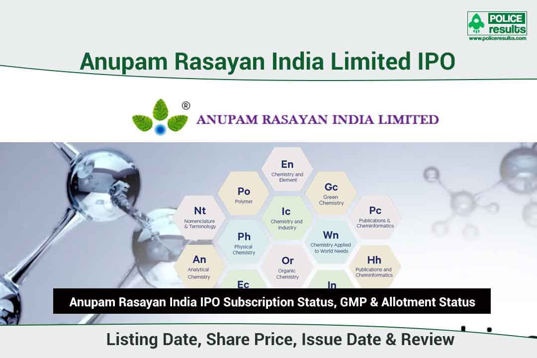 [Live Updates] Anupam Rasayan IPO Subscription Status, GMP & Allotment Status: COMPNAMEENG IPO Listing Date, Share Price, Issue Date & Review