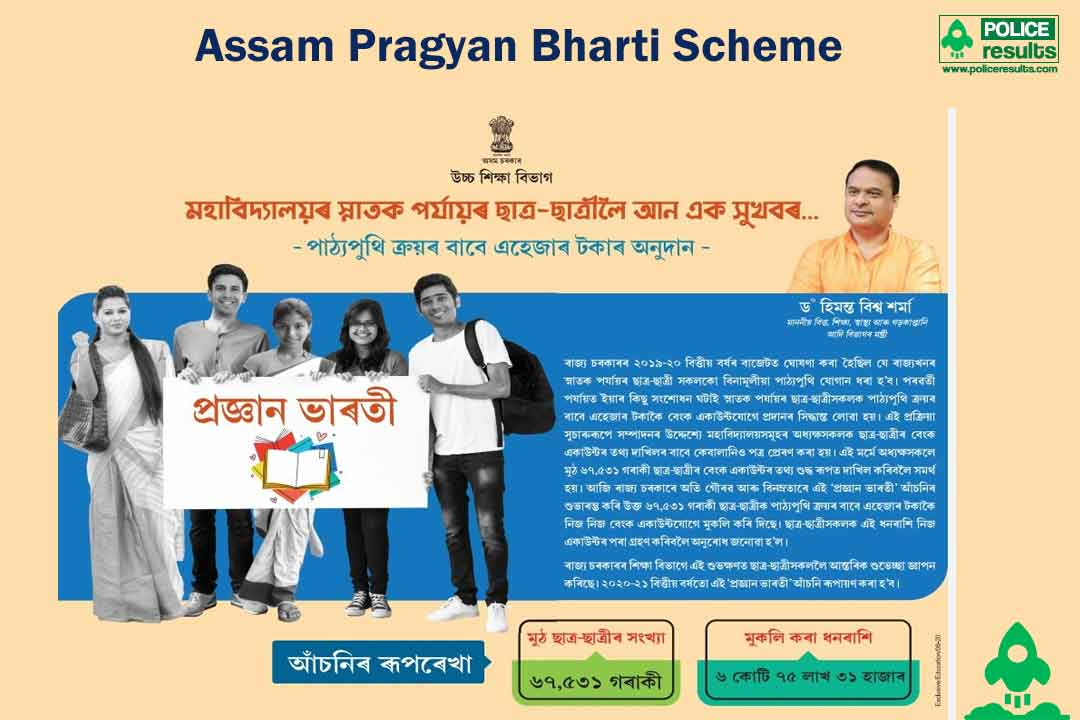 Assam Pragyan Bharti Scheme – Textbook Assistance to Under Graduate / Post Graduate Students