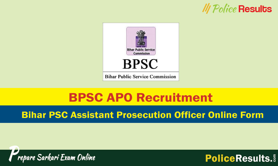 BPSC APO Recruitment 2020 - 553 Assistant Prosecution Officer Vacancy Apply Online