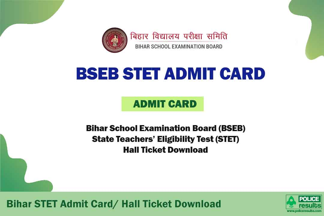 BSEB STET Admit Card 2020 (Announced) - Bihar STET Hall Ticket Download for STET 2019 re-exam