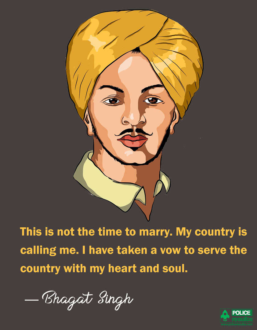 Bhagat Singh Quotes on Country
