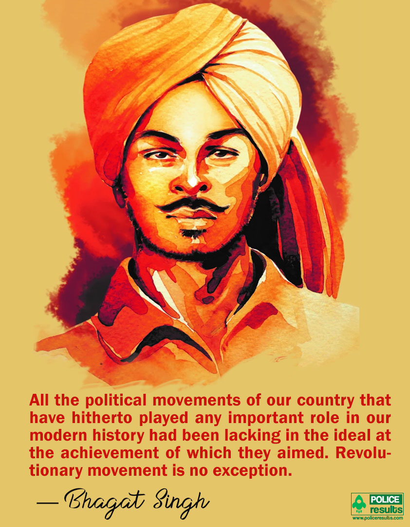 Bhagat Singh Quotes on Political movements