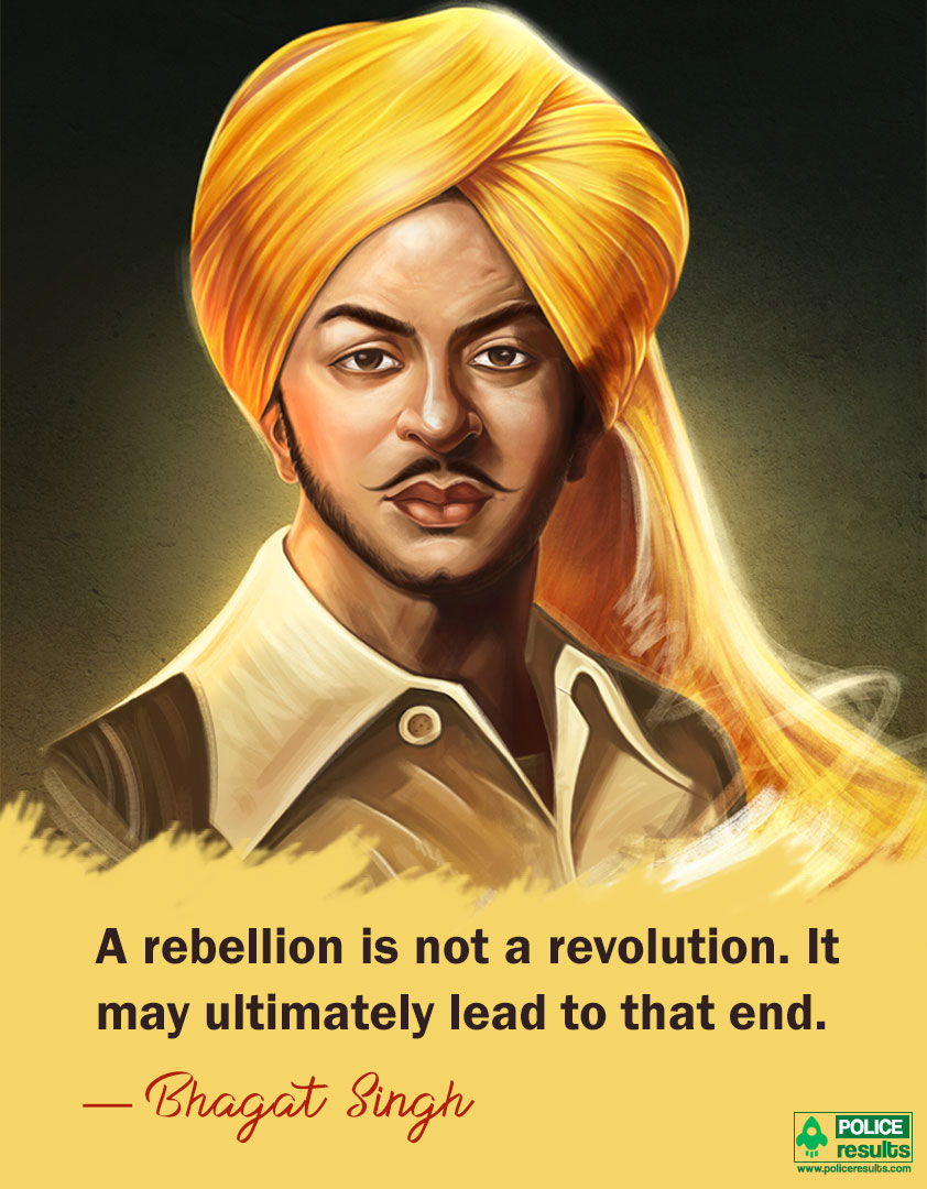 Bhagat Singh Quotes on Rebellion