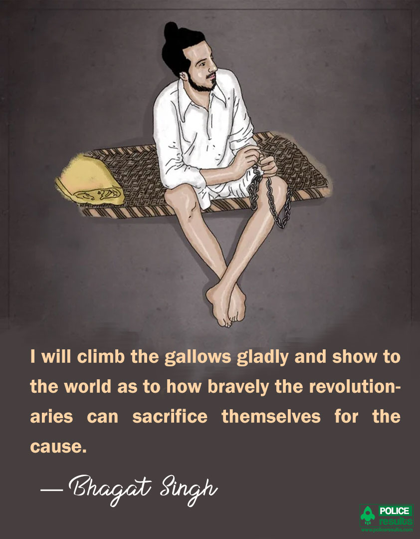 Bhagat Singh Quotes on Sacrifice