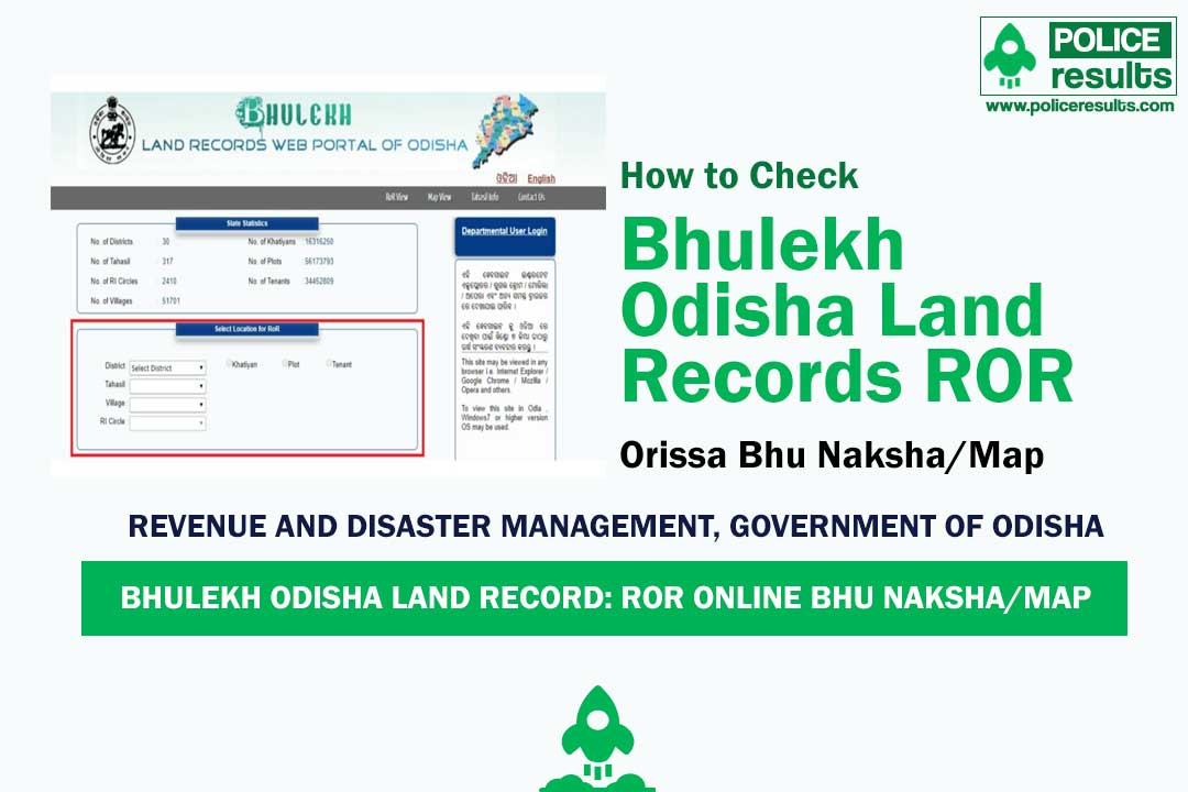 Bhulekh Odisha Land Records ROR Apply – Orissa Bhu Naksha/Map Check Here