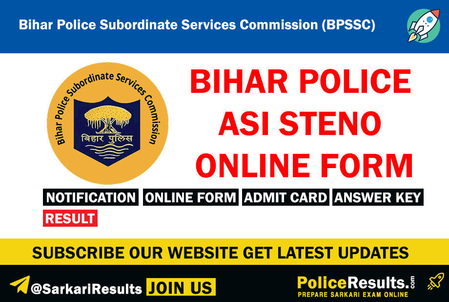 Bihar Police Recruitment 2020 – Apply Online for 133 Steno Asst Sub Inspector Posts