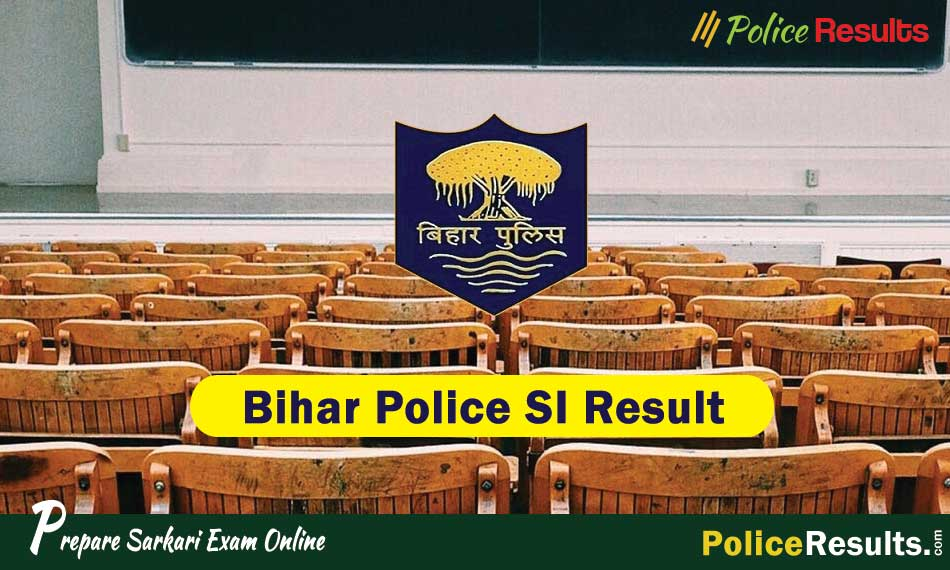 Bihar Police SI Result 2020 Prelims Exam Merit List & Cut off Marks PDF