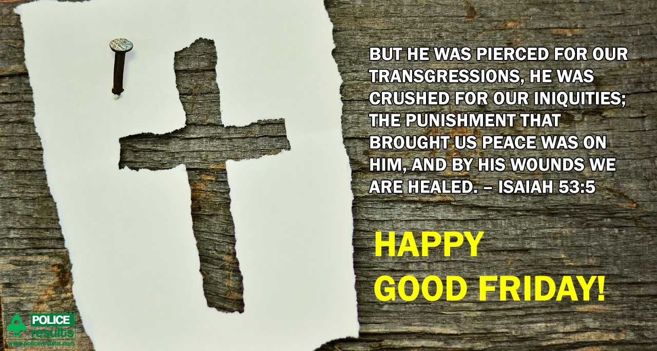 Blessed Good Friday Quotes Bible Verse Isaiah 53 5