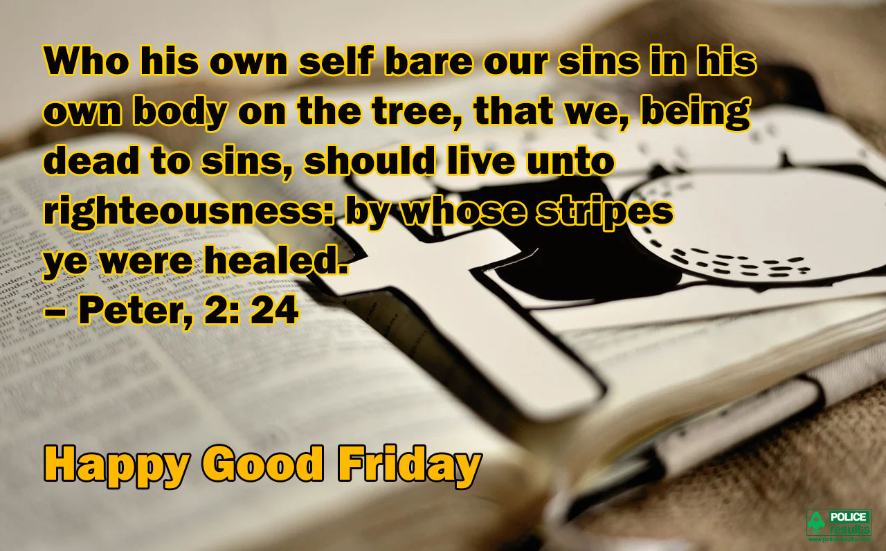 Blessed Good Friday Quotes Bible Verse Peter, 2 24