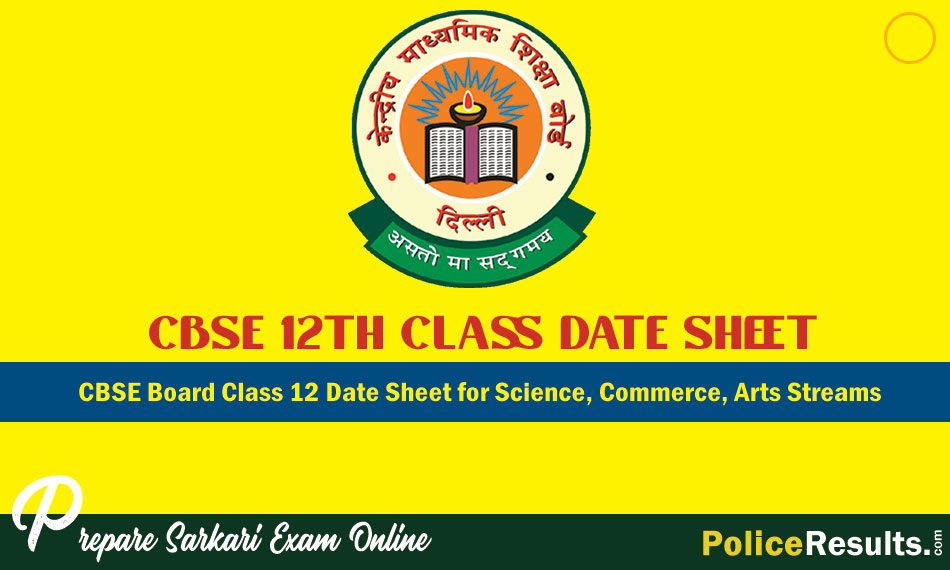 CBSE 12th Board Exam Date Sheet 2020: Check CBSE Class 12 Time Table 2020 for Science, Commerce, Arts