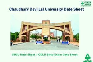 CDLU Time Table 2020 – Chaudhary Devi Lal University Date Sheet 2020