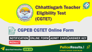 CGPEB CGTET Online Form