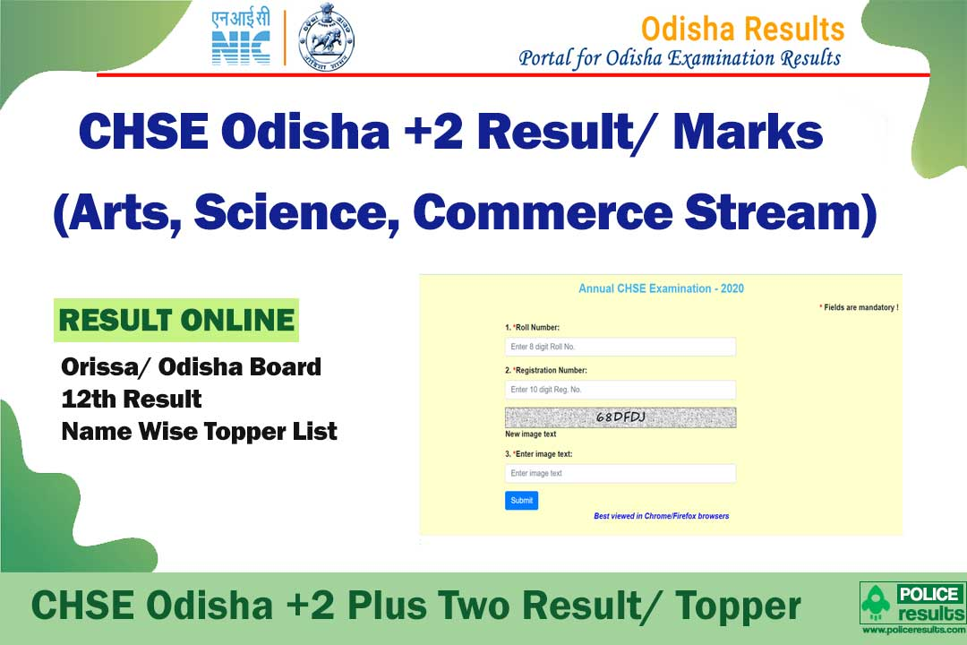 orissaresults.nic.in*] CHSE Odisha +2 Plus Two Science Result 2020 Topper  List Name Wise