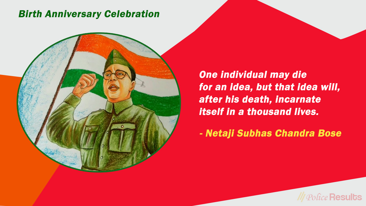 Celebrations of Subhas Chandra Bose Jayanti