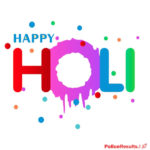 Collection of stickers happy holi