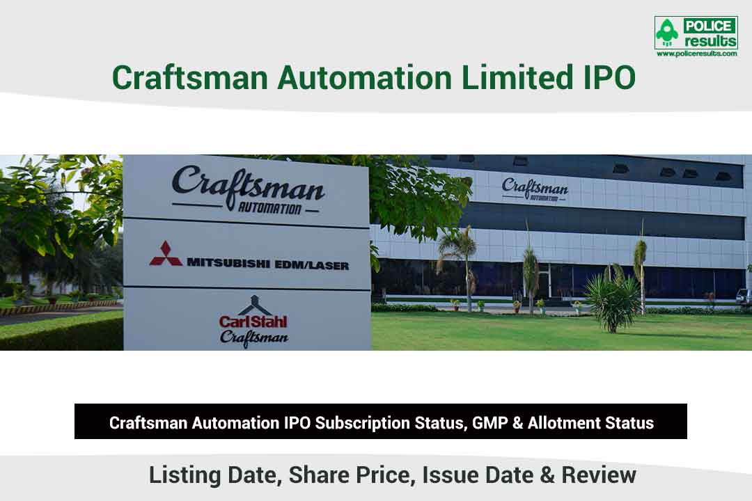 [Live Updates] Craftsman AutomationI PO Subscription Status, GMP & Allotment Status: COMPNAMEENG IPO Listing Date, Share Price, Issue Date & Review