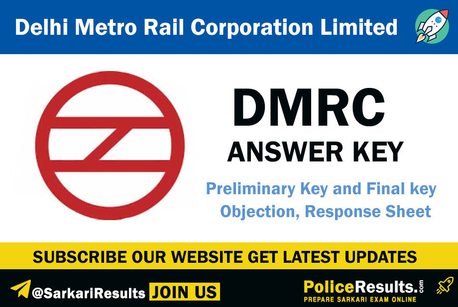 DMRC Answer key 2020 – Delhi Metro Rail Asstt. Manager, SC/TO, JE, Maintainer Exam Question Papers Solution Keys with SC/ TO Expected Cut Off Marks