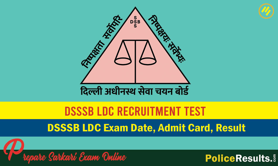 DSSSB LDC Skill Test Admit Card 2020 Download Direct Link