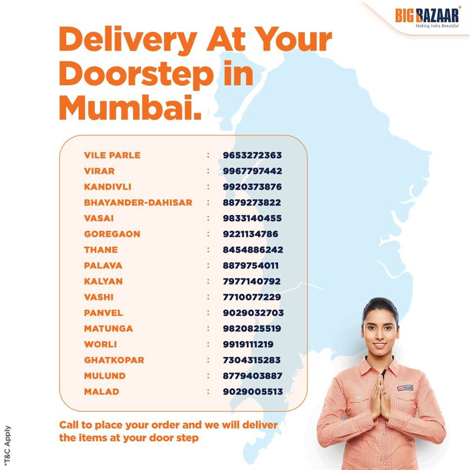 Doorstep Delivery services in Mumbai - Contact Number
