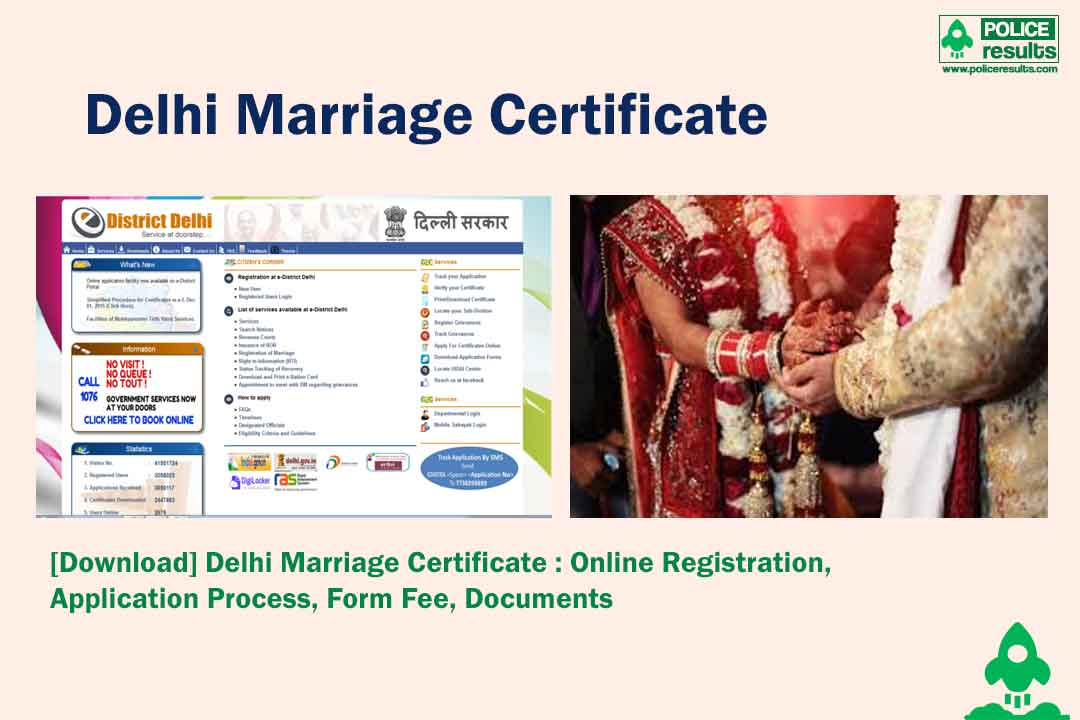 [Download] Delhi Marriage Certificate : Online Registration, Application Process, Form Fee, Documents