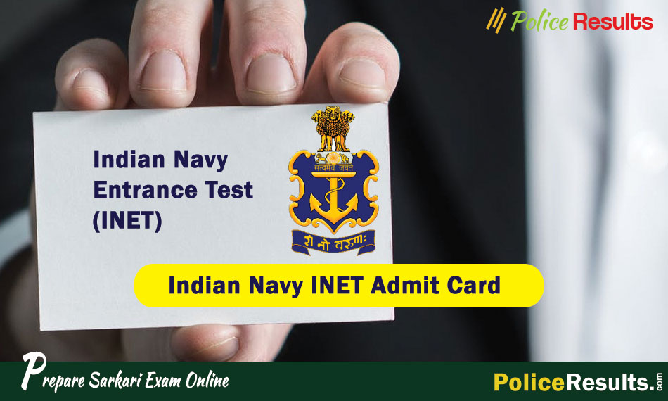 Download Indian Navy INET Admit Card 2020