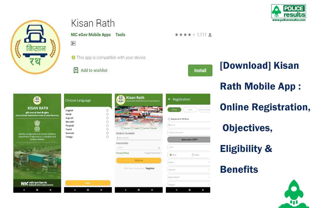 [Download] Kisan Rath Mobile App : Online Registration, Objectives, Eligibility & Benefits