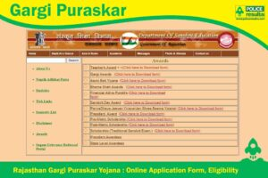 Gargi Puraskar 2020 Rajasthan : Gargi Award Online Registration, Objectives, Eligibility & Benefits