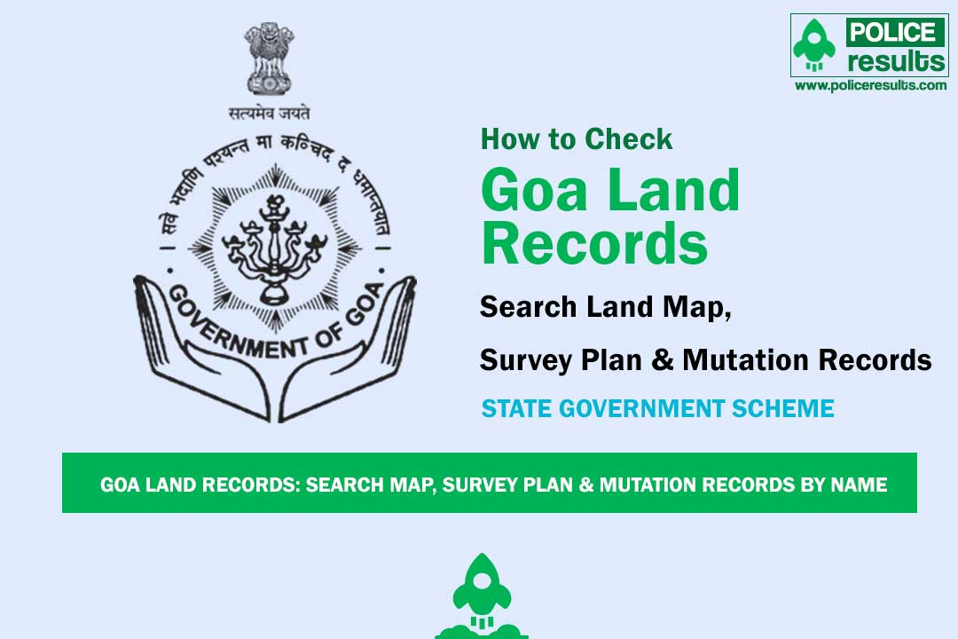 Goa Land Records: Search Map, Survey Plan & Mutation Records By Name