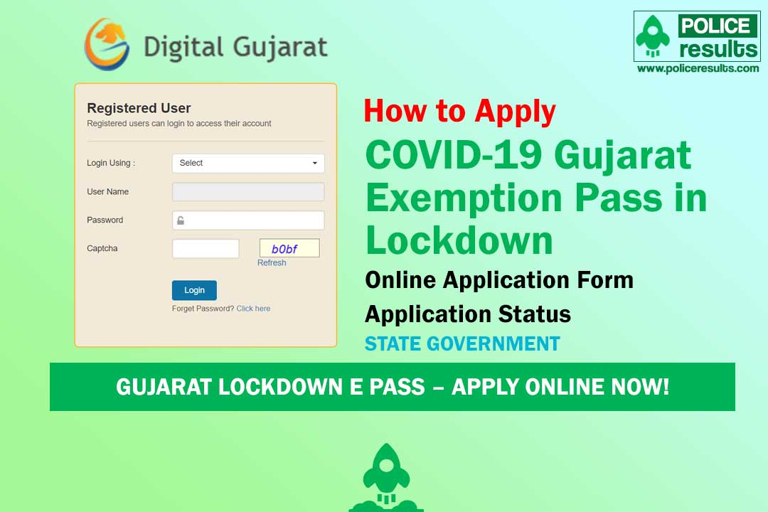 COVID-19 Gujarat Exemption Pass in Lockdown : Digital Gujarat Lockdown Pass Online Registration