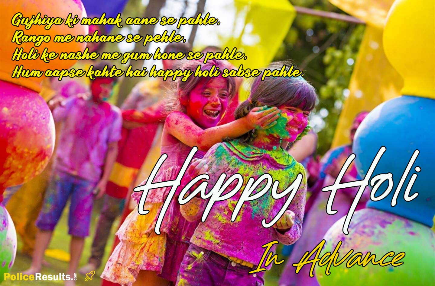 Happy Holi SMS Messages Wishes HD Wallpapers Images in Advanced