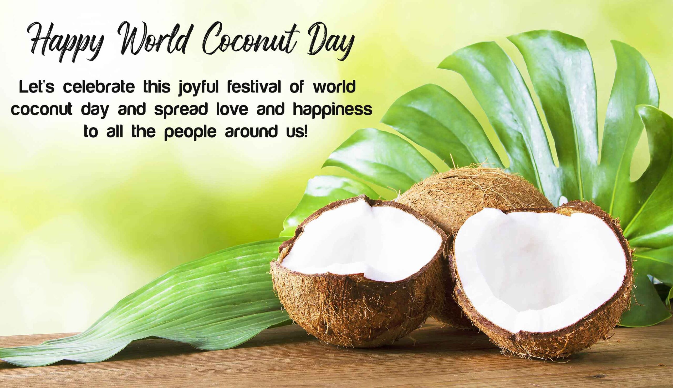 Happy World Coconut Day Quotes, Images, Theme