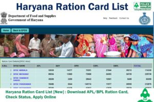 Haryana Ration Card List 2020 [New] : Download APL/BPL Ration Card, Check Status, Apply Online
