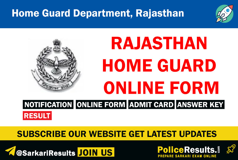 Home Guards Dept, Rajasthan Home Guard Recruitment
