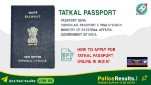 How to apply for tatkal passport online in india?