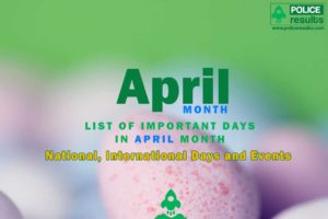 Important Days in April Month 2020 List : National, International Days and Events