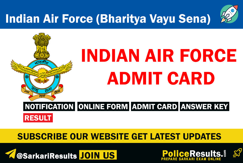 Indian Air Force Admit Card