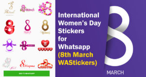 2020 International Women's Day Stickers for Whatsapp : (IWD 8th March) Women's Day Greeting Card, Post Cards, Ribbon, Banners (Free Download)