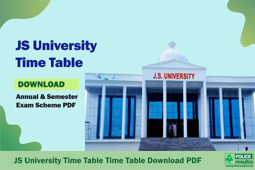 JS University Time Table 2020 BA BSc BCom Polytechnic Date Sheet PDF
