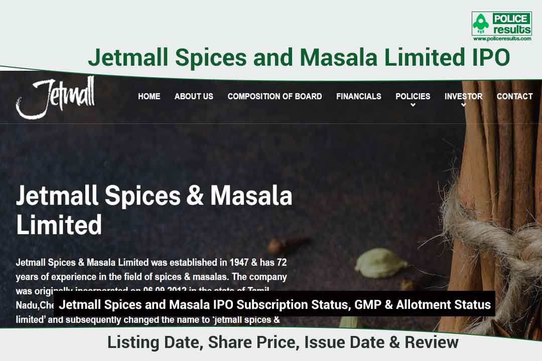 [Live Updates] Jetmall Spices and Masala Limited IPO Subscription Status, GMP & Allotment Status: Jetmall Spices and Masala IPO Listing Date, Share Price, Issue Date & Review