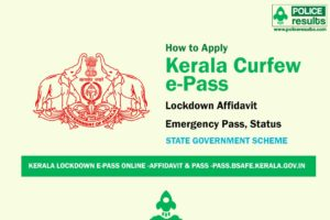 Kerala Lockdown e-pass Online -Affidavit & Pass -pass.bsafe.kerala.gov.in