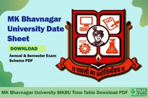 MK Bhavnagar University MKBU Time Table Download PDF
