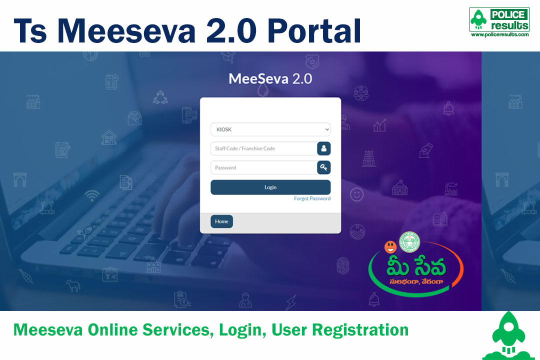 Ts Meeseva 2.0 Portal: Meeseva Online Services, Login, User Registration