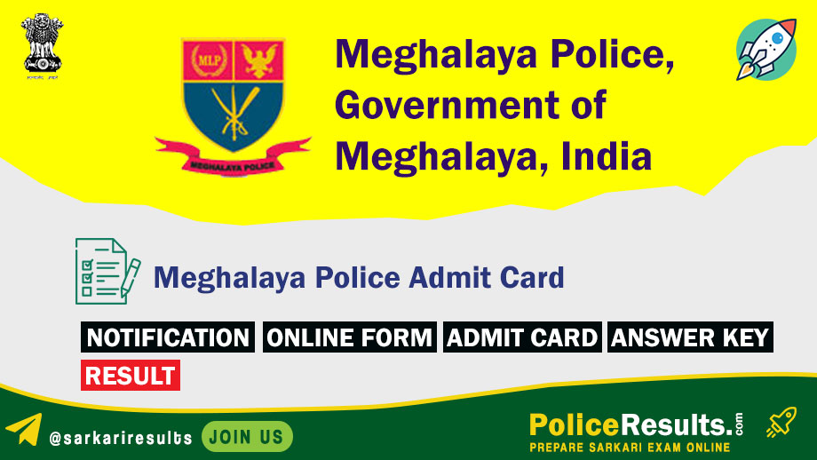 Meghalaya Police Admit Card 2020 – Meghalaya Police PET Admit Card 2020 for UB/ AB Sub-Inspector, Constable & Other Posts