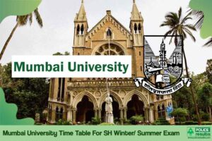 Mumbai University Time Table 2020: MU Exam Date Sheet For SH Winter Exam