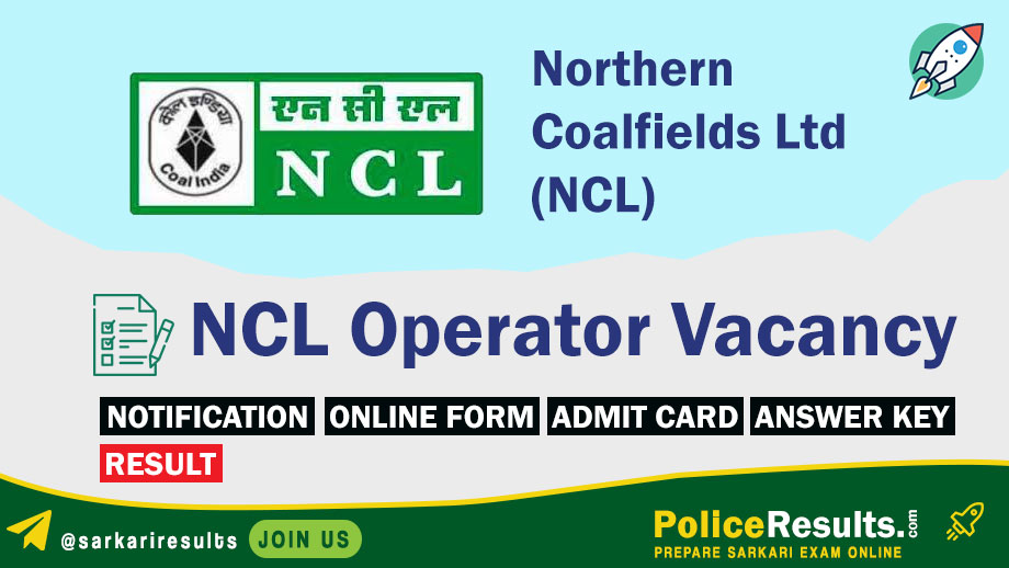 Northern Coalfields Ltd Operator Online Form 2020