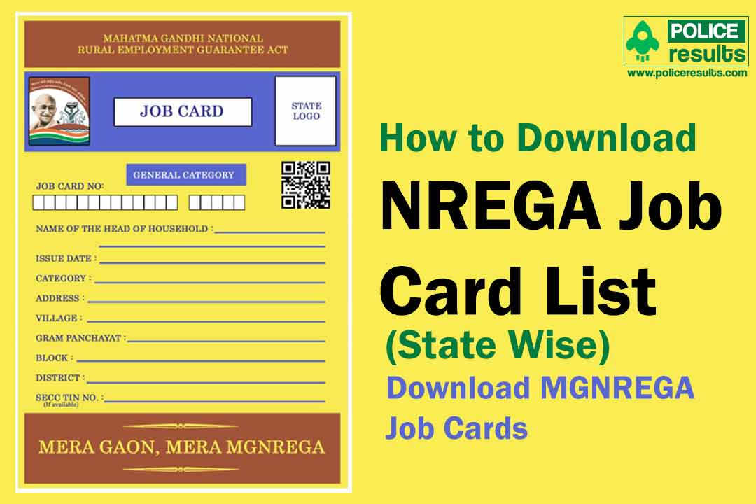 NREGA Job Card List 2019-2020 (State Wise) Download MGNREGA Job Cards @nrega.nic.in