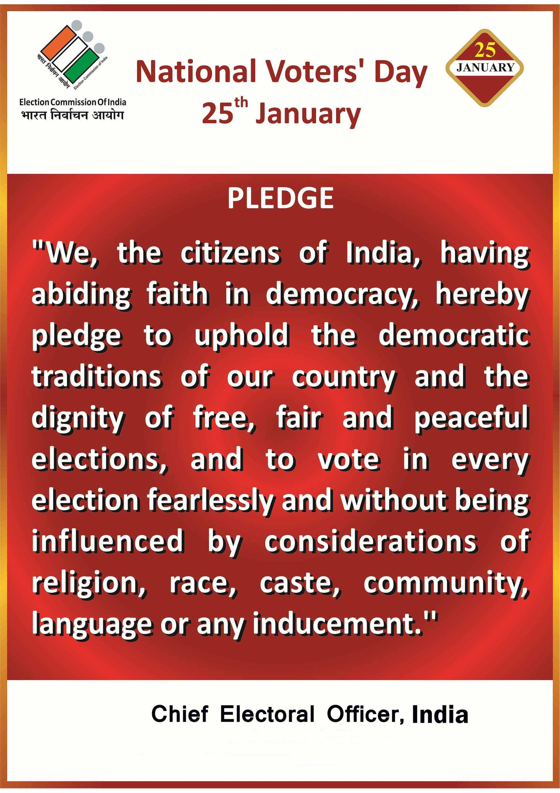 National Voters Day Pledge