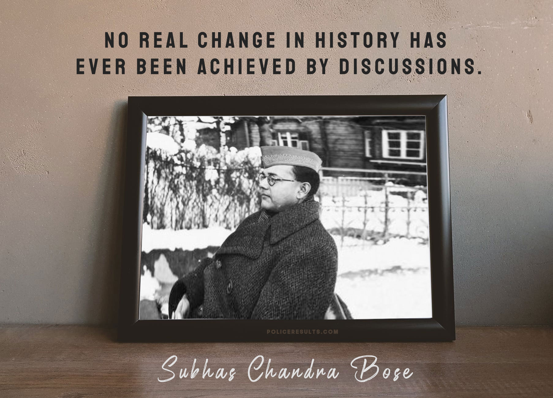 No real change in history has ever been achieved by discussions.